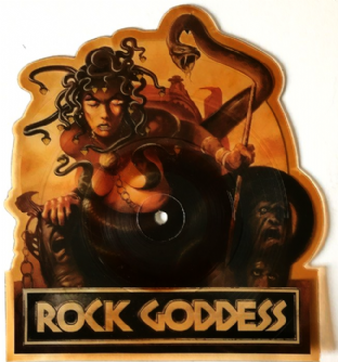 "Rock Goddess ‎- I Didn't Know I Loved You (7"") (Shaped Picture Disc) (G-VG/NM)"